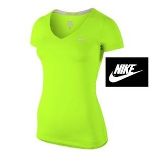 Nike-Pro fitted V-neck athletic top
